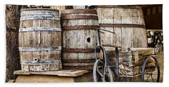 Emptied Barrels Beach Towel by Heather Applegate