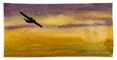 Empty Ocean Ahead - Pby Catalina Flying Boat From Wwii Beach Towel