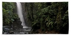 Encantada Waterfall Costa Rica Beach Sheet by Teresa Zieba