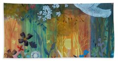 Beach Towel featuring the painting Encantador by Robin Maria Pedrero