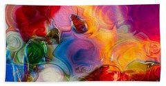 Enchanting Flames Beach Towel