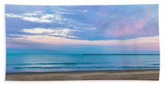 Beach Towel featuring the photograph End Of The Blue Hour by Steven Santamour