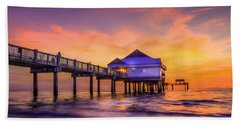 End Of The Day Beach Sheet by Marvin Spates