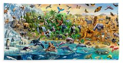 Endangered Species Beach Sheet by Adrian Chesterman