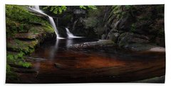 Beach Towel featuring the photograph Enders Falls Spring by Bill Wakeley