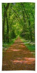 Endless Trail Into The Forest Beach Towel