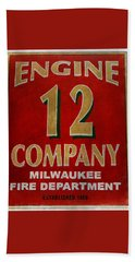 Engine 12 Beach Towel