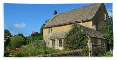 English Cottage With Garden Beach Towel by IPics Photography