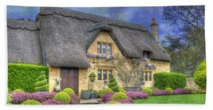 English Country Cottage Beach Sheet