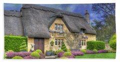 English Country Cottage Beach Towel