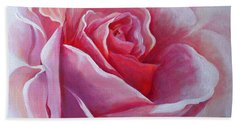 Beach Sheet featuring the painting English Rose by Sandra Phryce-Jones