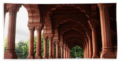 Engrailed Arches, Red Fort, New Delhi Beach Towel
