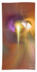Enlightened - Abstract Art Beach Sheet