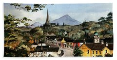 Enniskerry Panorama Wicklow Beach Towel