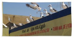 Ensenada Harbour And Fishmarket 40 Beach Towel