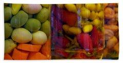 Ensenada Olive Stand 11 Beach Towel