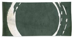 Enso No. 107 Green Beach Towel