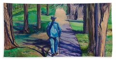 Beach Towel featuring the painting Entanglement On Highway 98' by Ecinja Art Works