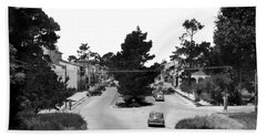 Entering Carmel By The Sea Calif. Circa 1945 Beach Sheet by California Views Mr Pat Hathaway Archives