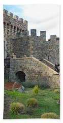 Entrance To Castello Di Amorosa In Napa Valley-ca Beach Sheet