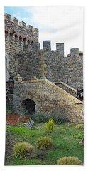 Entrance To Castello Di Amorosa In Napa Valley-ca Beach Towel