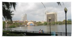 Eola Park In Orlando Beach Towel