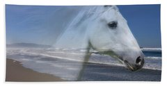 Equine Shores Beach Sheet by Athena Mckinzie