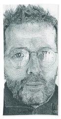 Eric Clapton Beach Sheet by Jeff Ridlen