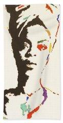 Beach Sheet featuring the painting Erykah Badu by Stormm Bradshaw