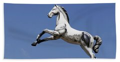 Escaped Carousel Horse Beach Towel