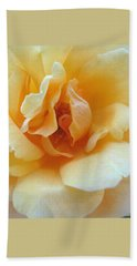 Lightness Of Being - Yellow Rose Macro -floral Art From The Garden Beach Towel