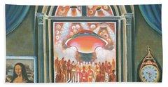 Eternity, 1968 Oil On Canvas Beach Towel by Radi Nedelchev