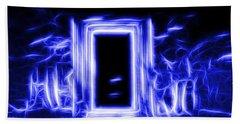 Ethereal Doorways Blue Beach Towel