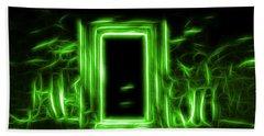 Ethereal Doorways Green Beach Towel