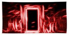 Ethereal Doorways Red Beach Towel