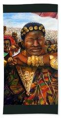 Ethiopia Dancing  Beach Sheet by Bernadette Krupa