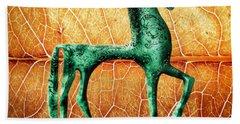 Etruscan Horse Beach Towel