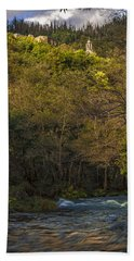 Beach Towel featuring the photograph Eume River Galicia Spain by Pablo Avanzini