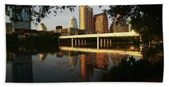 Evening Along The River Beach Towel