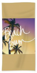 Evening Beach Bum Beach Towel