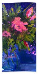 Evening Blooms Beach Towel