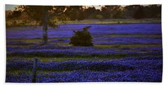 Beach Towel featuring the photograph Evening Blues by John Glass