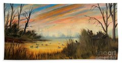 Evening Duck Hunt Beach Towel