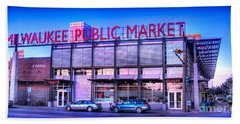Evening Milwaukee Public Market Beach Towel