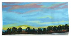Evening On Ema River Beach Towel