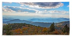 Evening On The Blue Ridge Parkway Beach Sheet by John Haldane