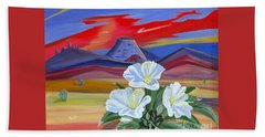 Beach Towel featuring the painting Evening Primrose by Phyllis Kaltenbach