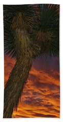 Evening Red Event Beach Towel