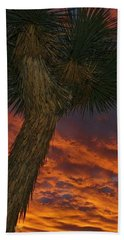 Evening Red Event Beach Towel by Angela J Wright