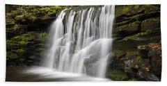 Evening Silk Wilderness Waterfall Beach Towel